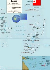 Tonga Islands Map