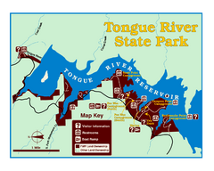 Tongue River Reservoir State Park Map