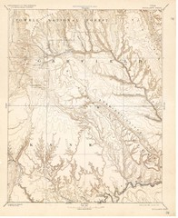 Topo Map of Escalante Quadrant, UT circa 1886