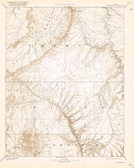 Topo Map of San Rafael Quadrant circa 1885