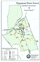 Topsmead State Forest map