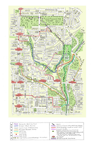 Toronto Brickworks Trail Map