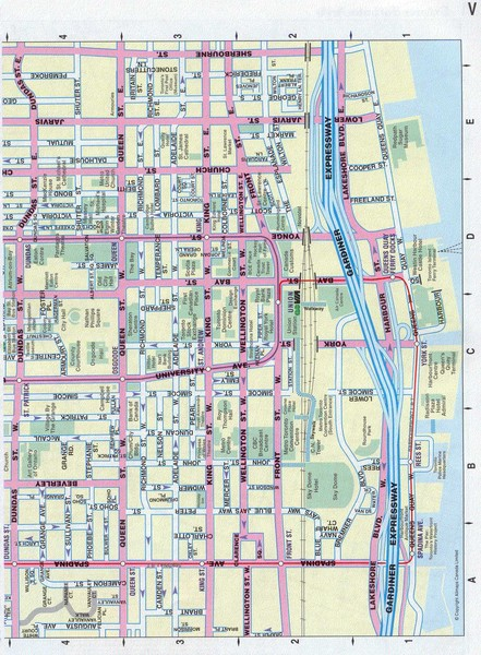 Map Of Toronto Canada Downtown Toronto Canada Downtown Tourist Map   Toronto • mappery