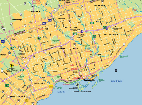 Toronto City Map Toronto ON Canada mappery
