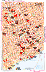Toronto Downtown Map