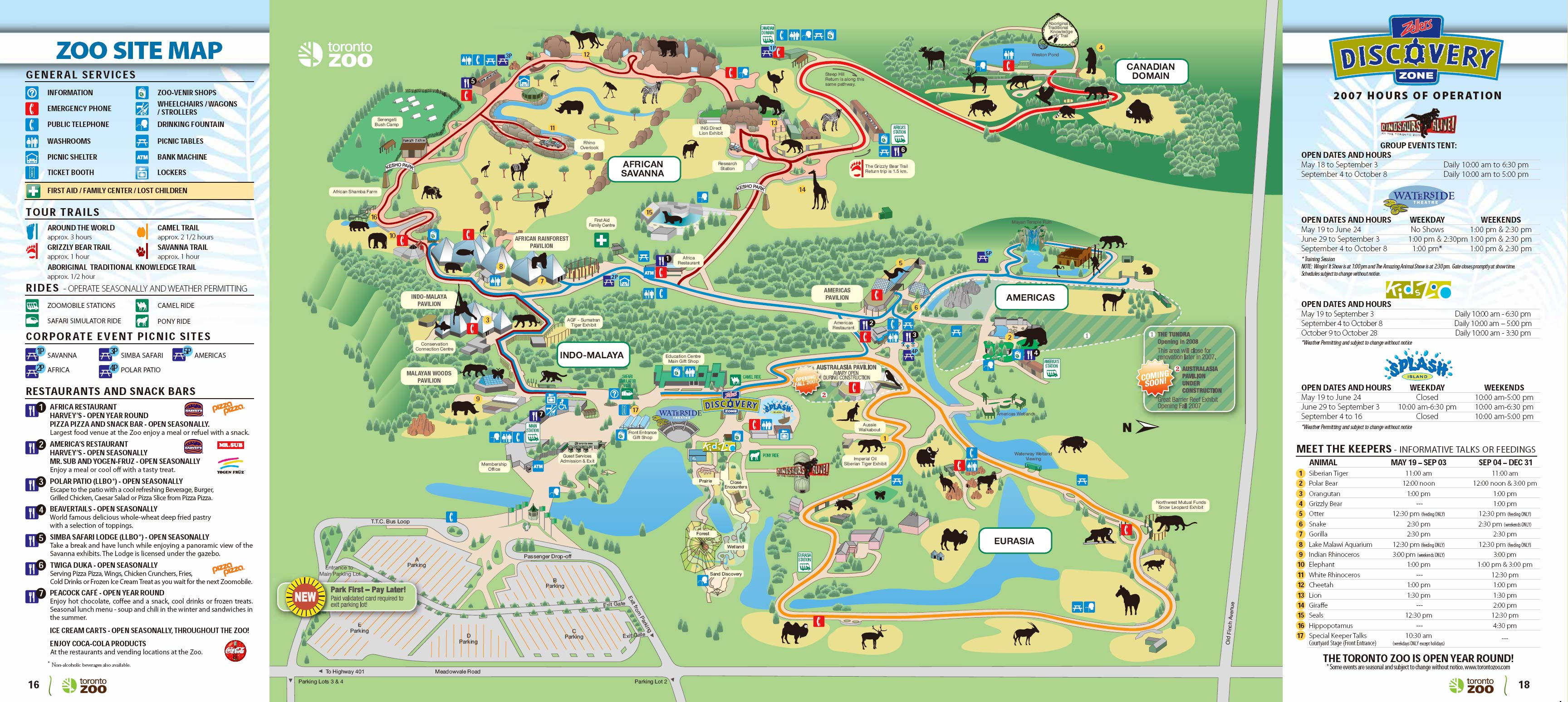 Toronto Zoo Map 361A Old Finch Avenue Scarborough Ontario M1B 5K7