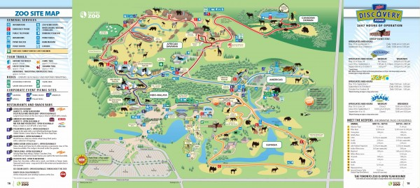 Toronto Zoo Map 361a Old Finch Avenue Scarborough