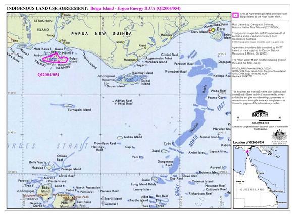 Torres Strait Islands Map Torres Strait Land Use Map