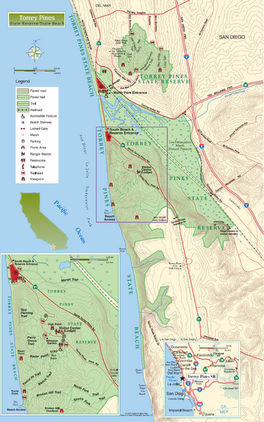 Torrey Pines State Beach and Reserve Map
