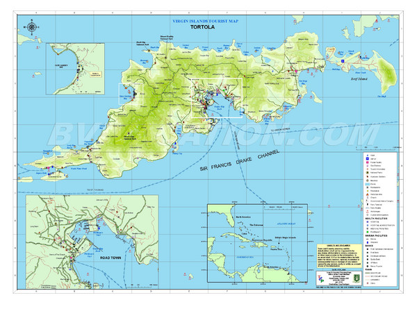 Tortola British Islands Tourist Map Tortola mappery