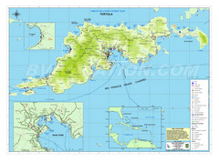 Tortola British Islands Tourist Map