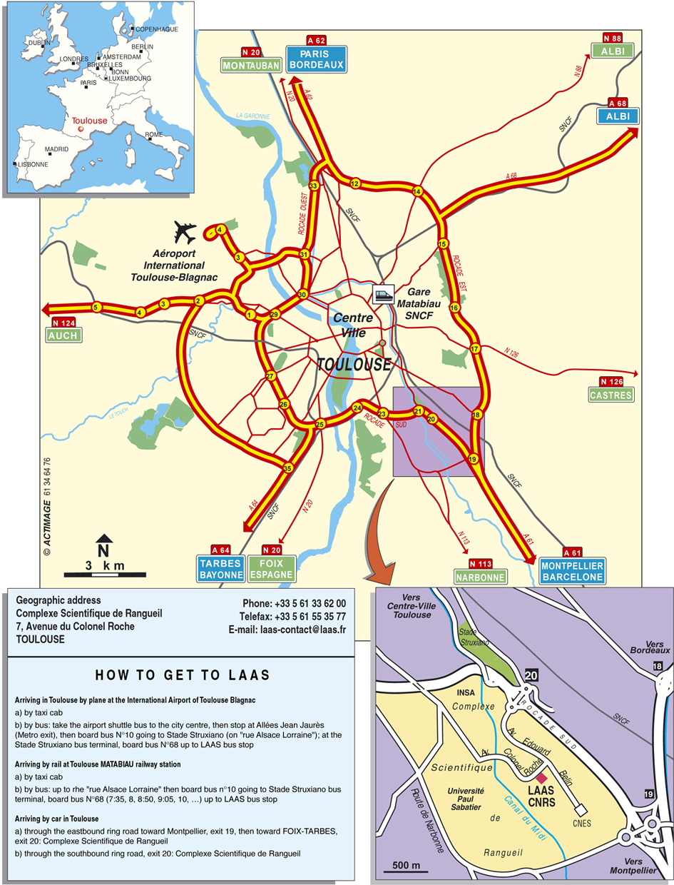 Toulouse Tourist Map Toulouse mappery