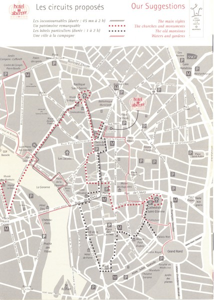 Toulouse - walking tours Map