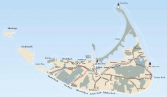 Tourist Map of Nantucket Island