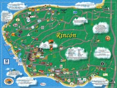 Tourist Map of Rincón Puerto Rico