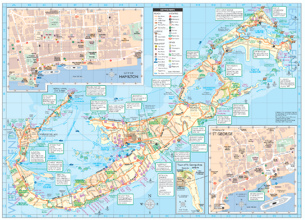 Tourist map of Bermuda - Bermuda • mappery