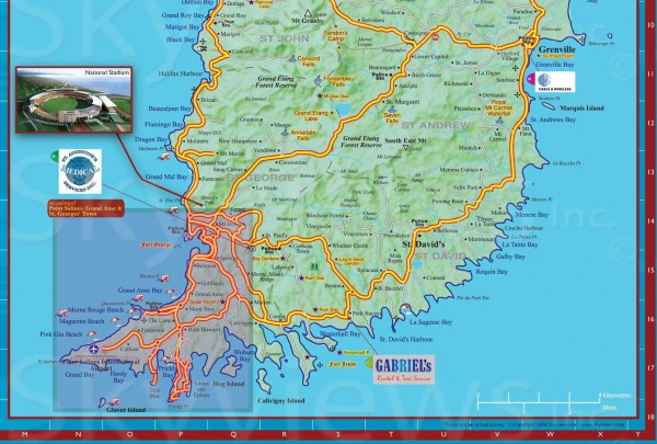 Cartes Des Iles De La Grenade Maps Of Grenada Islands Best - Grenada map download