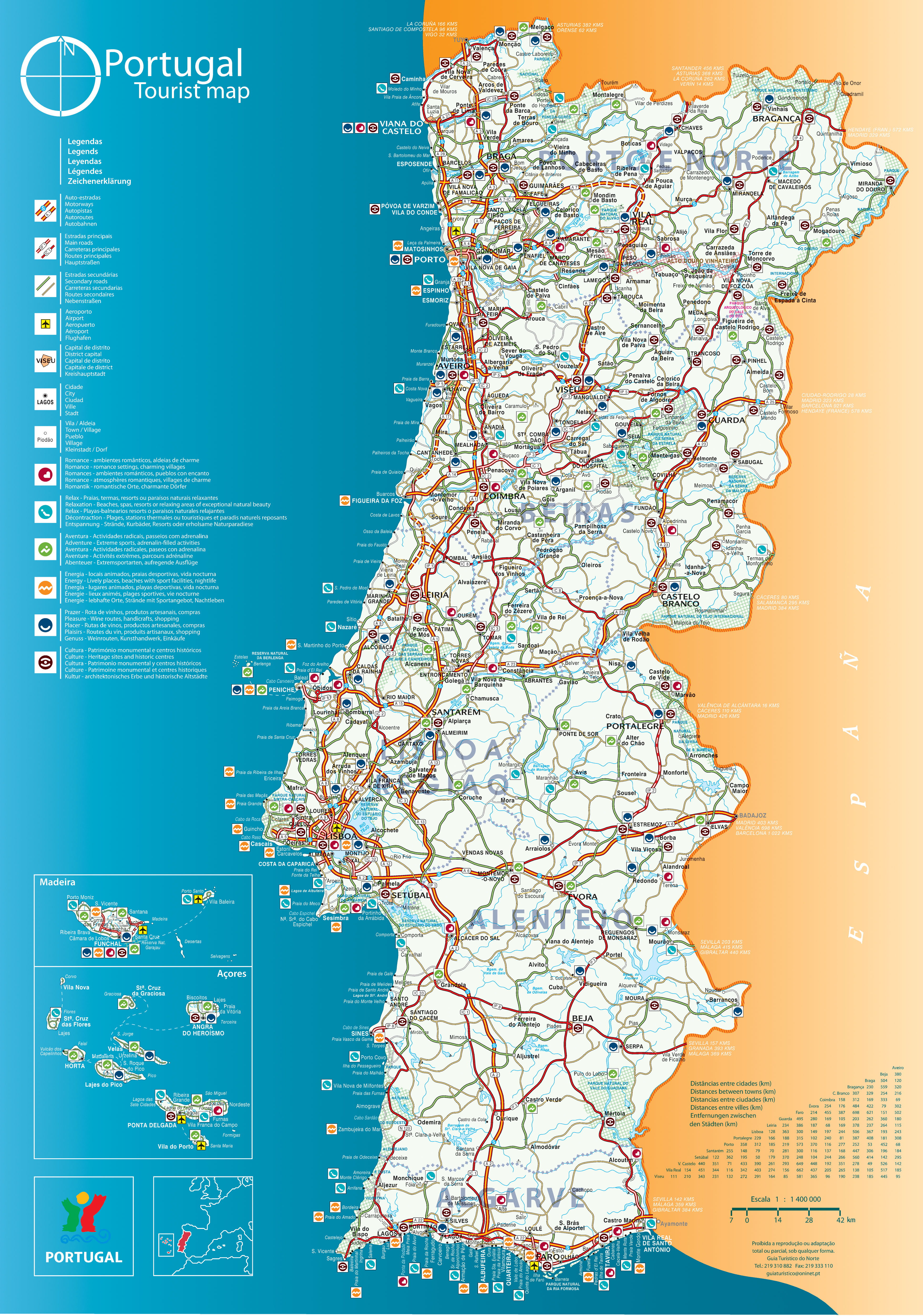 Driving In Portugal Advice And Tips To Explore Portugal By Car - Portugal motorway map