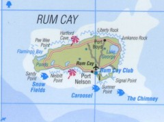 Tourist map of Rum Cay