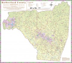 Tourist map of Rutherford County