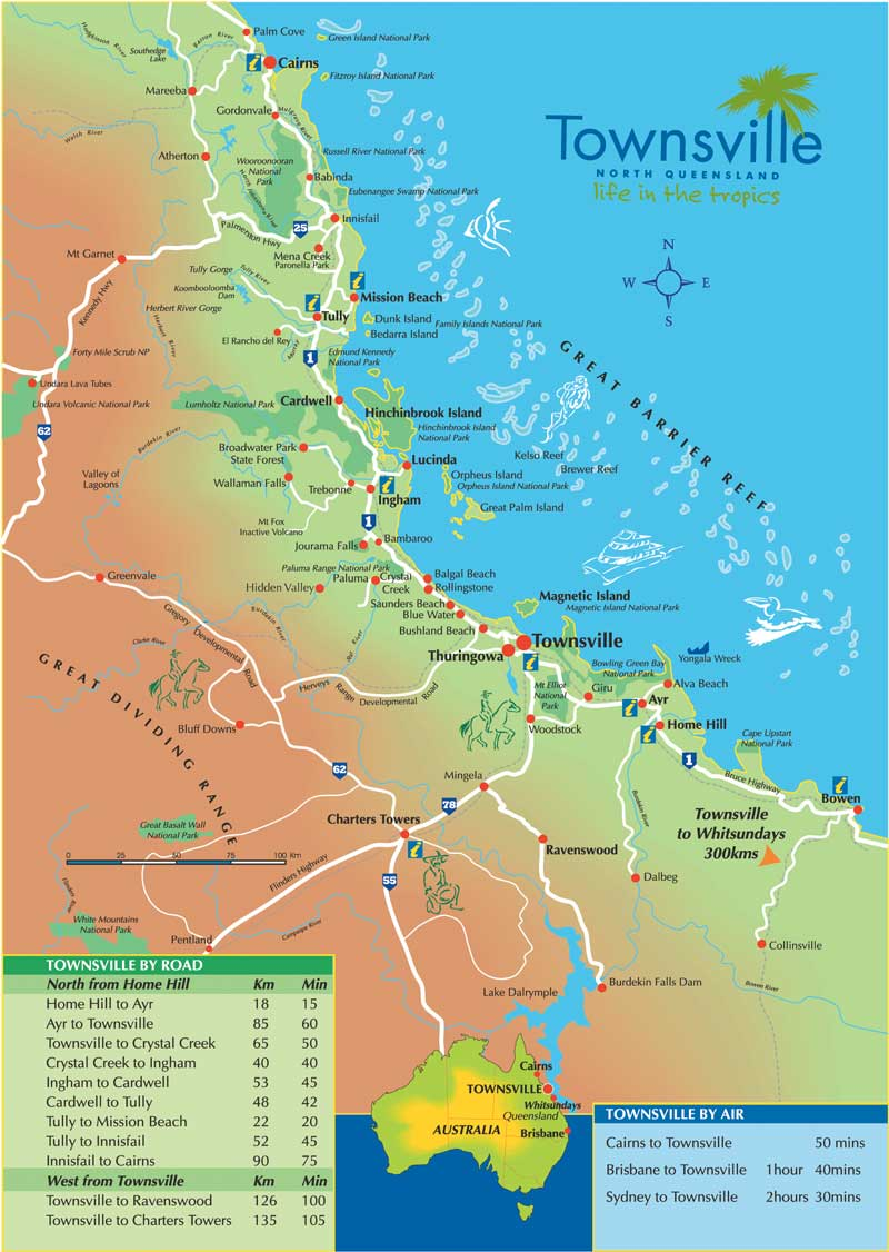 Townsville Map Townsville Australia mappery