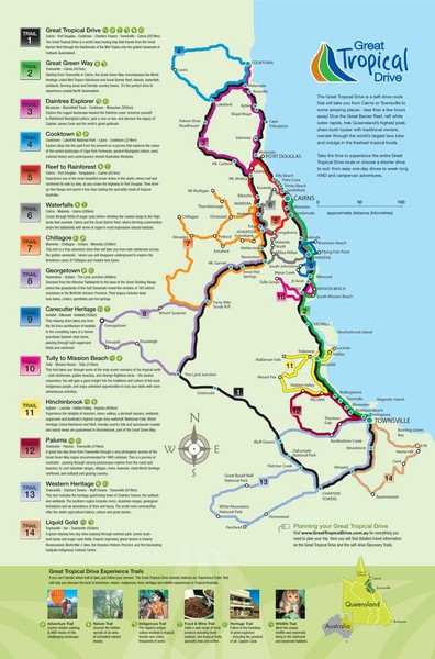 Townsville Regional Tourist Map Townsville mappery