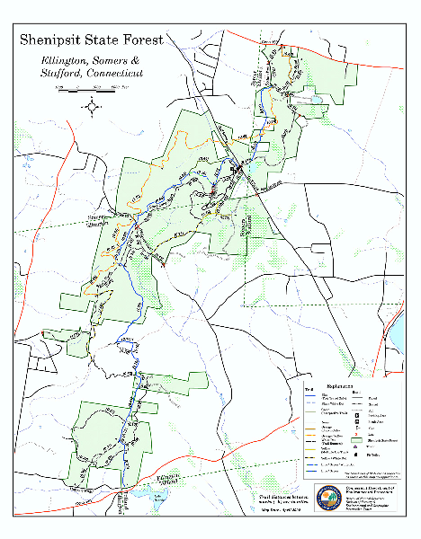 Trail map of Shenipsit State Forest