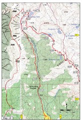 Trail to Bimelang Lake, Thimphu Map