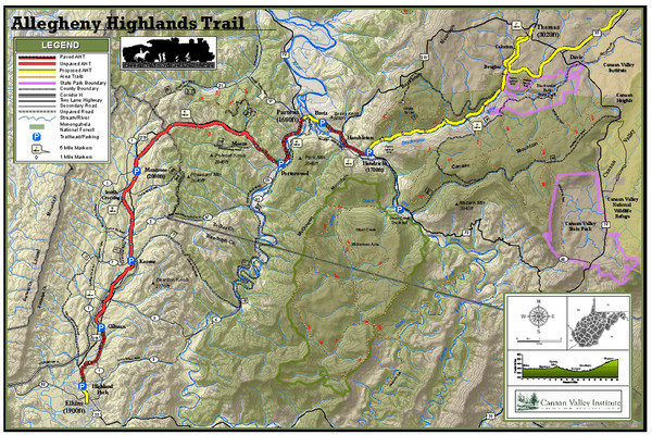 Trailmap72dpi Big Map - Canaan Valley Maryland USA • mappery on