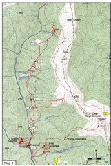 Trails near Cgagri monastery, Thimphu Map