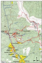Trails near Tango Monastery, Thimphu Map