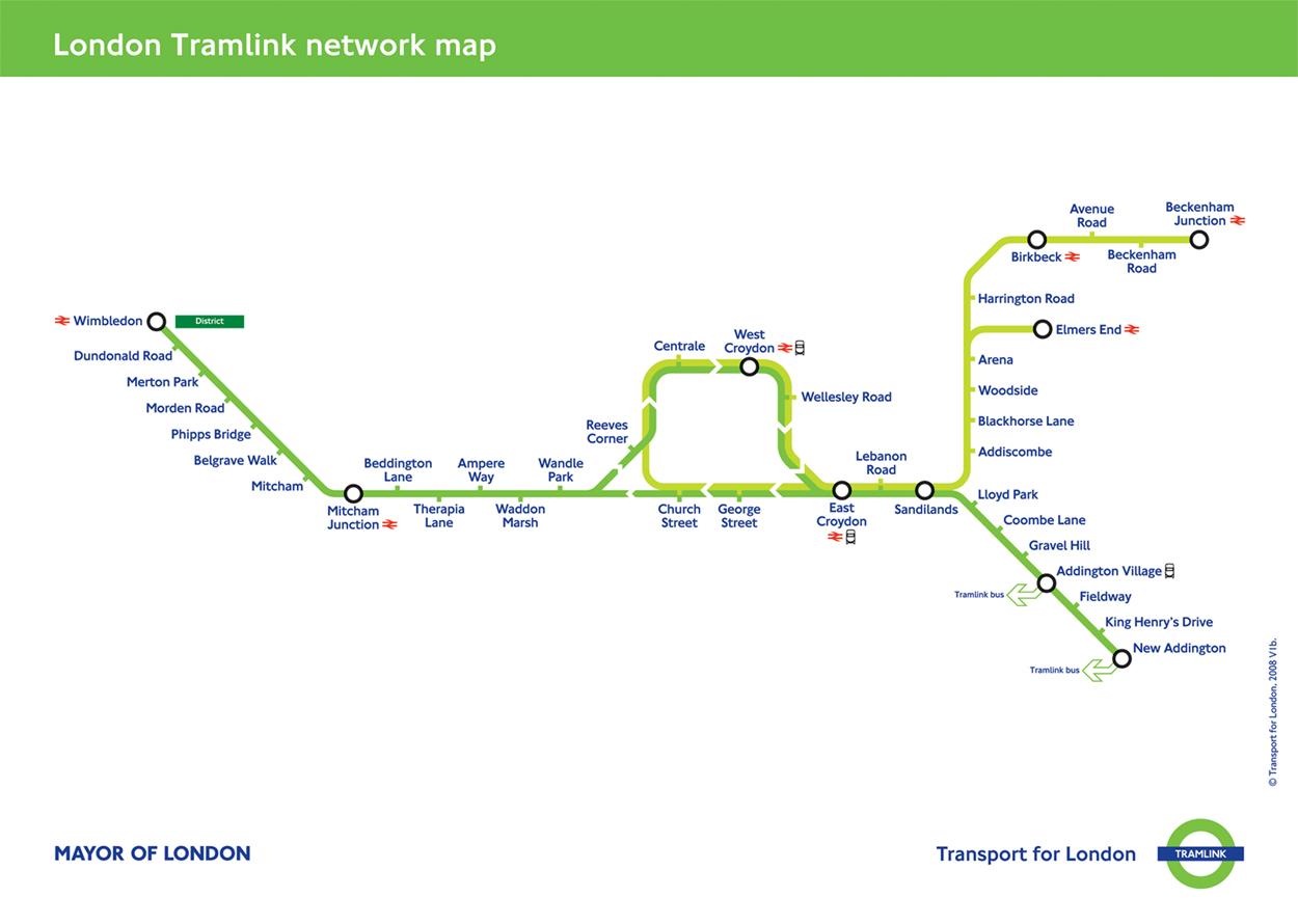 Tramlink Network Map London Mappery - Network map page