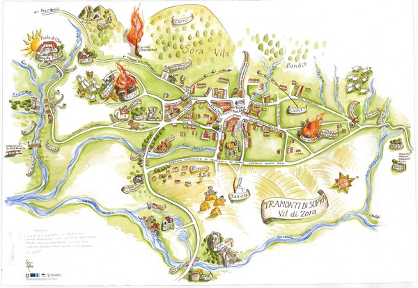 Tramonti di Sopra Tourist Map Tramonti di Sopra Italy mappery