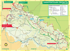Transcarpathia Hiking Trail Map