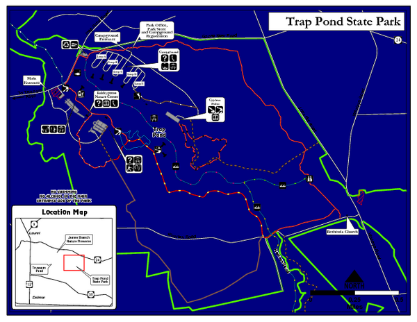 Trap Pond State Park Map