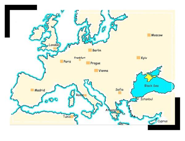 Travel Around Black Sea Map Near Istanbul mappery