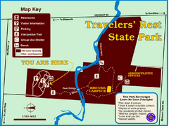 Travelers' Rest State Park Map