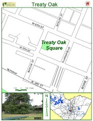 Treaty Oak Map