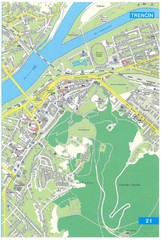 Trencin Tourist Map