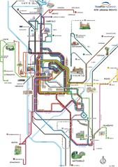 Trento Bus Route Map (Italian)