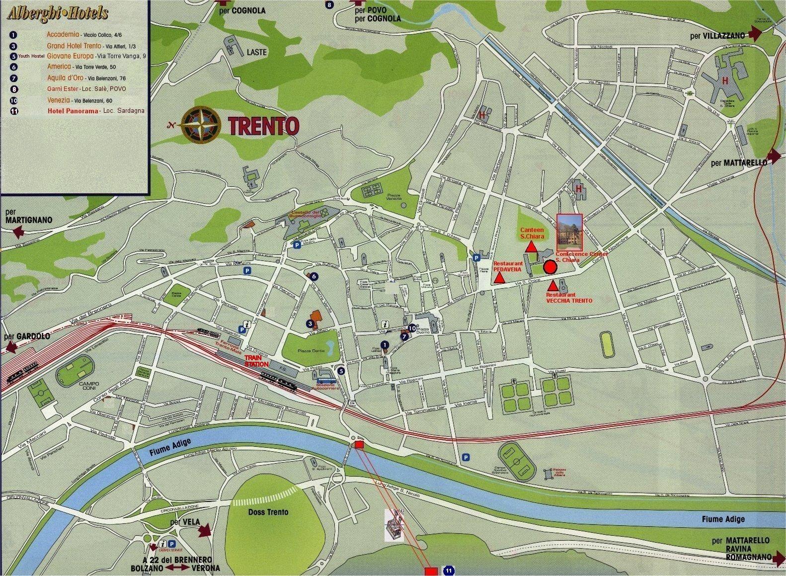 Trento Map Trento Italy mappery