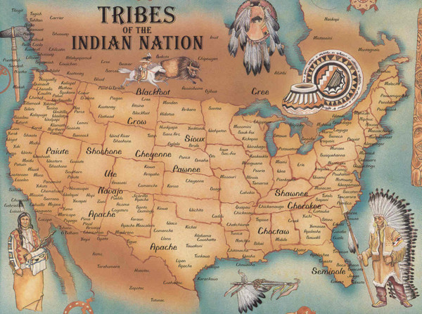 Tribes of Indian Nation Map - US • mappery