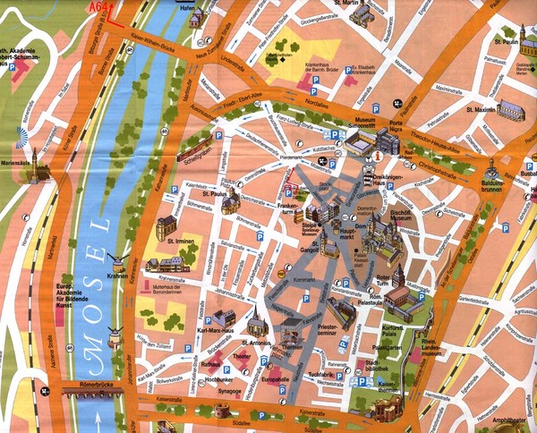 Trier City Map Trier Germany mappery