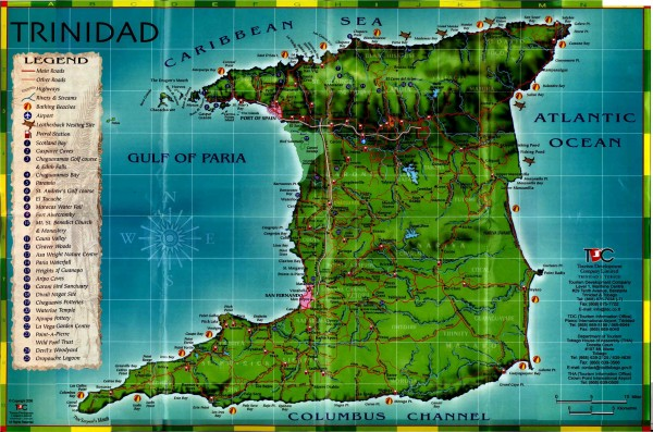 Trinidad tourist map