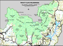 Trinity Alps Wilderness Map