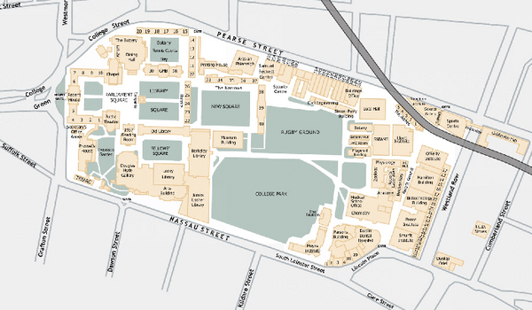 Trinity College Campus Map