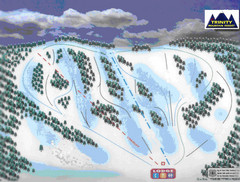 Trinity Mountain Resort Ski Trail Map