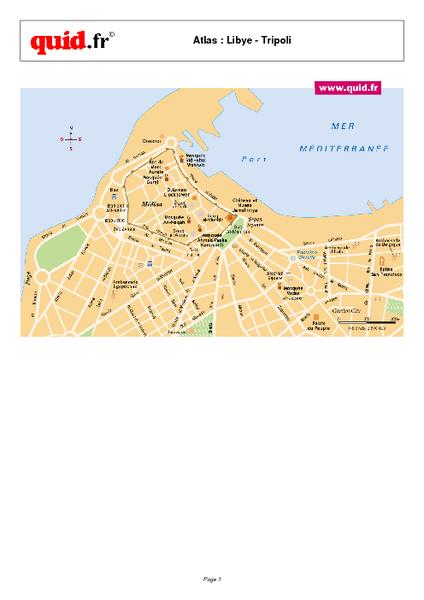 Tripoli City Map Tripoli Libya mappery