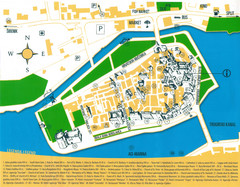 Trogir Croatia Tourist Map