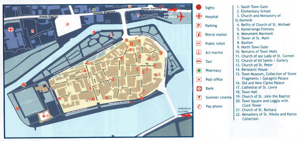 Trogir Tourist Map
